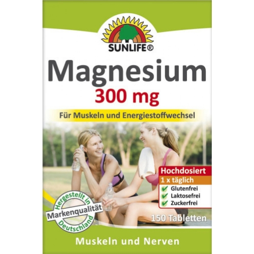 Sunlife Magnesium 300mg Tabletten 150er