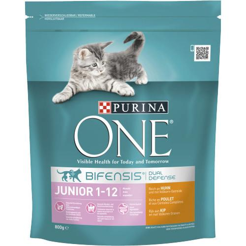 one cat Junior reich an Huhn 800g Beutel