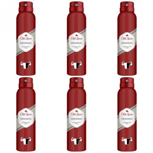 6 x Old Spice Spray Original 150ml Dose