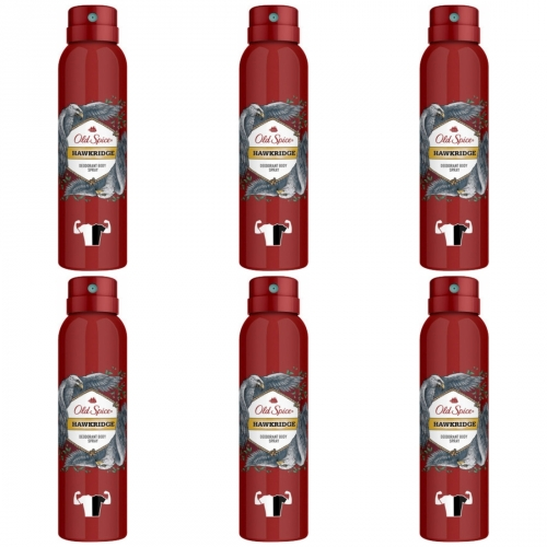 6 x Old Spice Spray Hawkridge 150ml Dose