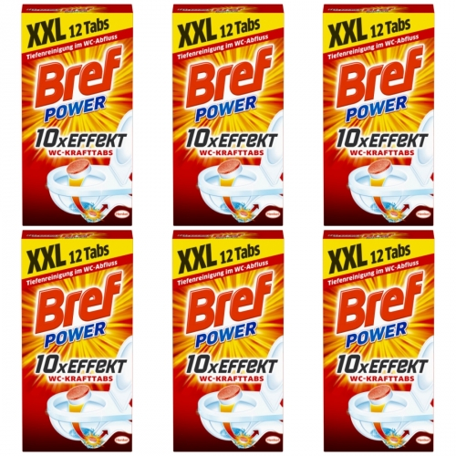 6 x Bref Power WC-Kraft Tabs 12er