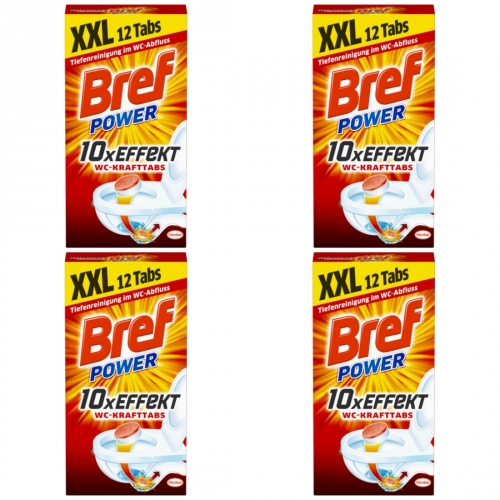 4 x Bref Power WC-Kraft Tabs 12er