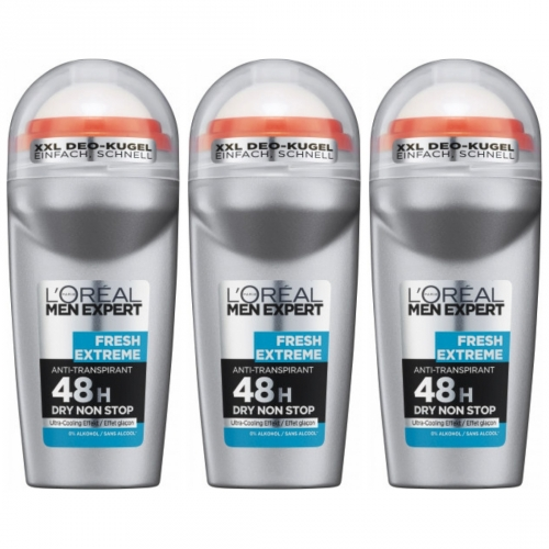 3 x LOreal Men Expert Deo Roll 50ml Dose