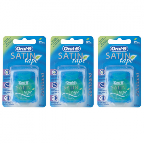 3 x Oral-B Satin-Tape 25 Meter