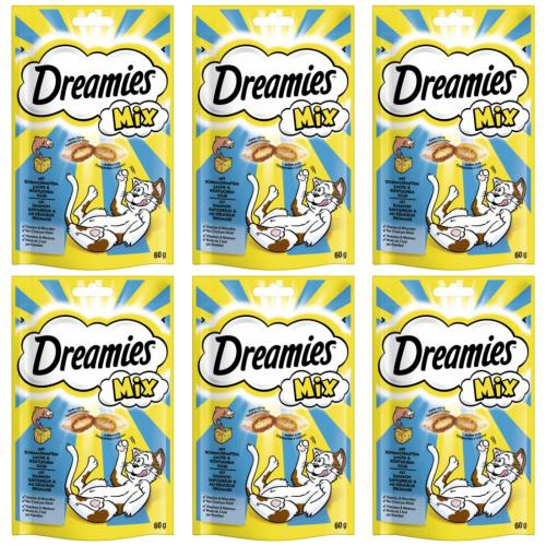 6 x dreamies Mix Lachs + Käse 60g