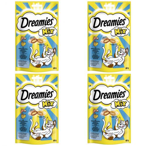 4 x dreamies Mix Lachs + Käse 60g