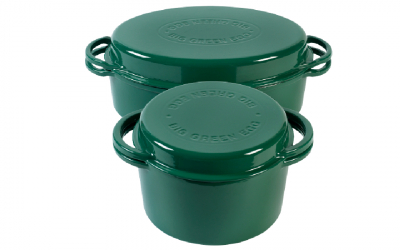 Big Green Egg Dutch Oven Grün rund